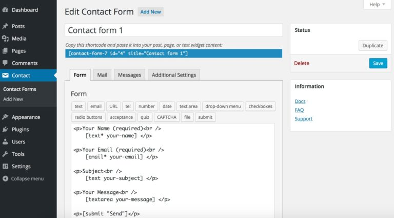 Contact Forms 7